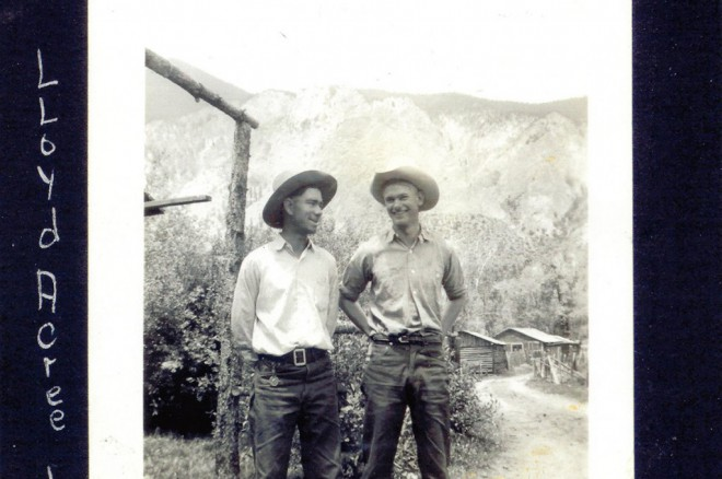 Lloyd Acree on left, Booby Needham on right, The cowboys of Wrights Lodge
