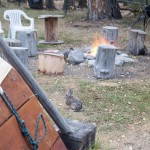 Rabbit Den and Tipi fire pit