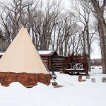 Tipi, Rabbit Den fire pit and back deck