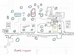 Hand drawn map property layout
