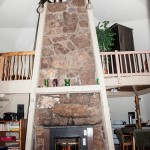 Dome fire place with pellet stove