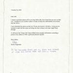 Letter from Robert Negronida 2004 001