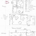 Hand drawn interior cabin layout